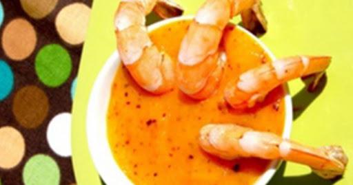 camarones en salsa de mango al chipotle
